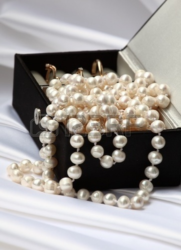 pearls in jewelry box