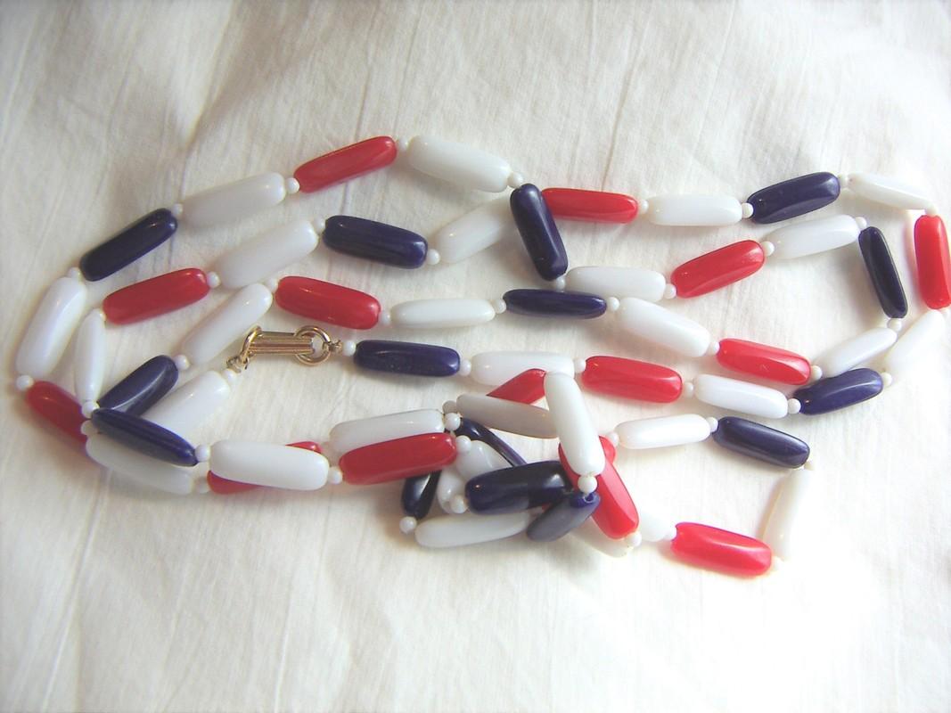 Patriotic plastic beads