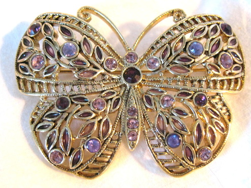 bejeweled butterfly pin brooch