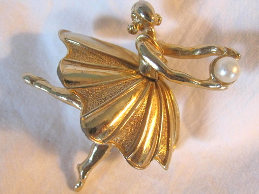 graceful dancer or ballerina brooch