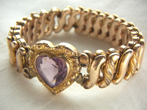 Antique Carmen expandable sweetheart bracelet