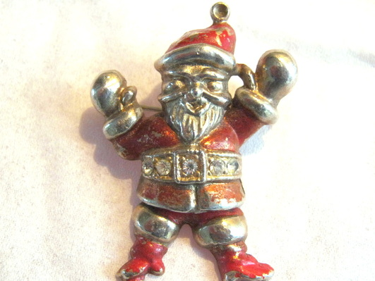 Jolly old St. Nick pin