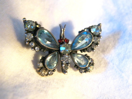 Victorian butterfly brooch pin