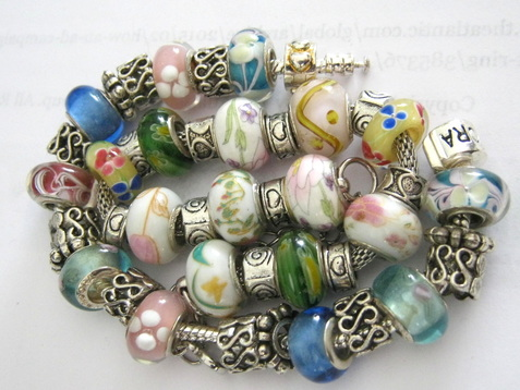 Venetian glass bead charms