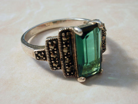 Art Deco ring with marcasites Wikimedia Commons
