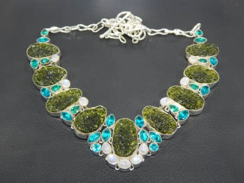 necklace with Moldavite