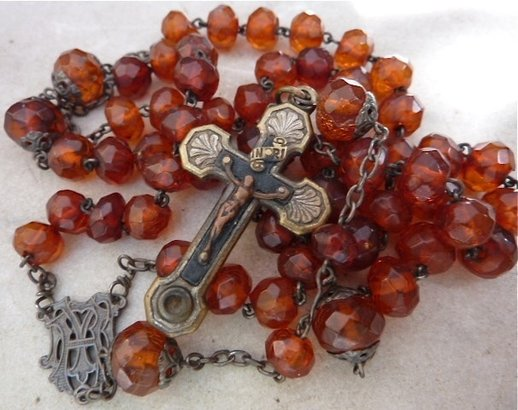 Antique amber rosary