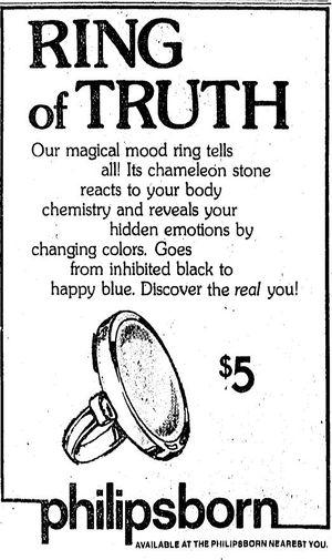 Mood ring advertisement